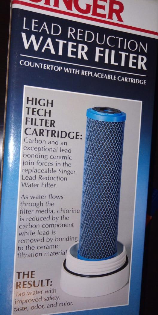 لتصفية المياه - ازالة الكلور والشوائب من مياه الصنبور