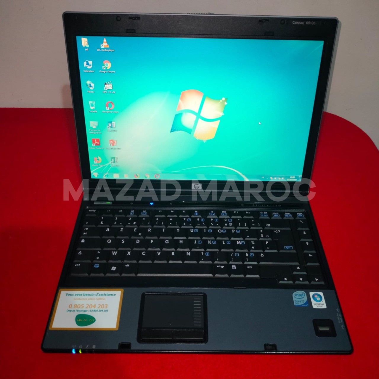 HP Compaq 6510b   Intel Core 2 duo 2.10GHz