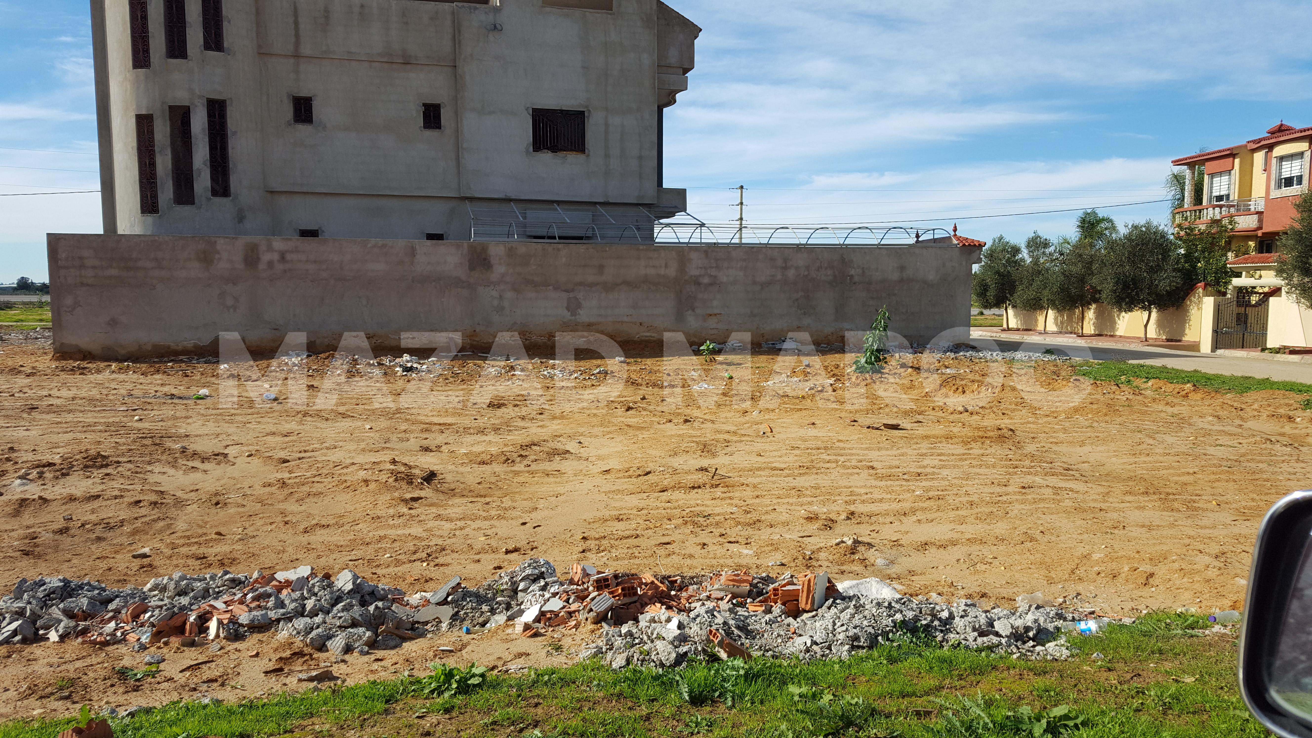 Lot de Terrain Titré de 392 m2 pour Villa à Sidi Allal El Bahraoui (El Kamouni)