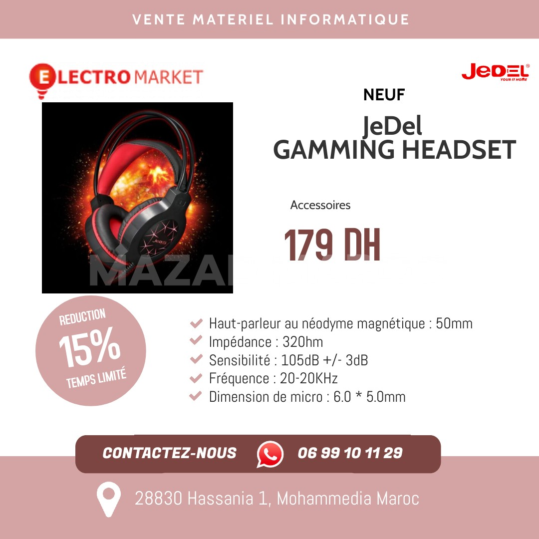 JeDel GAMMING HEADSET