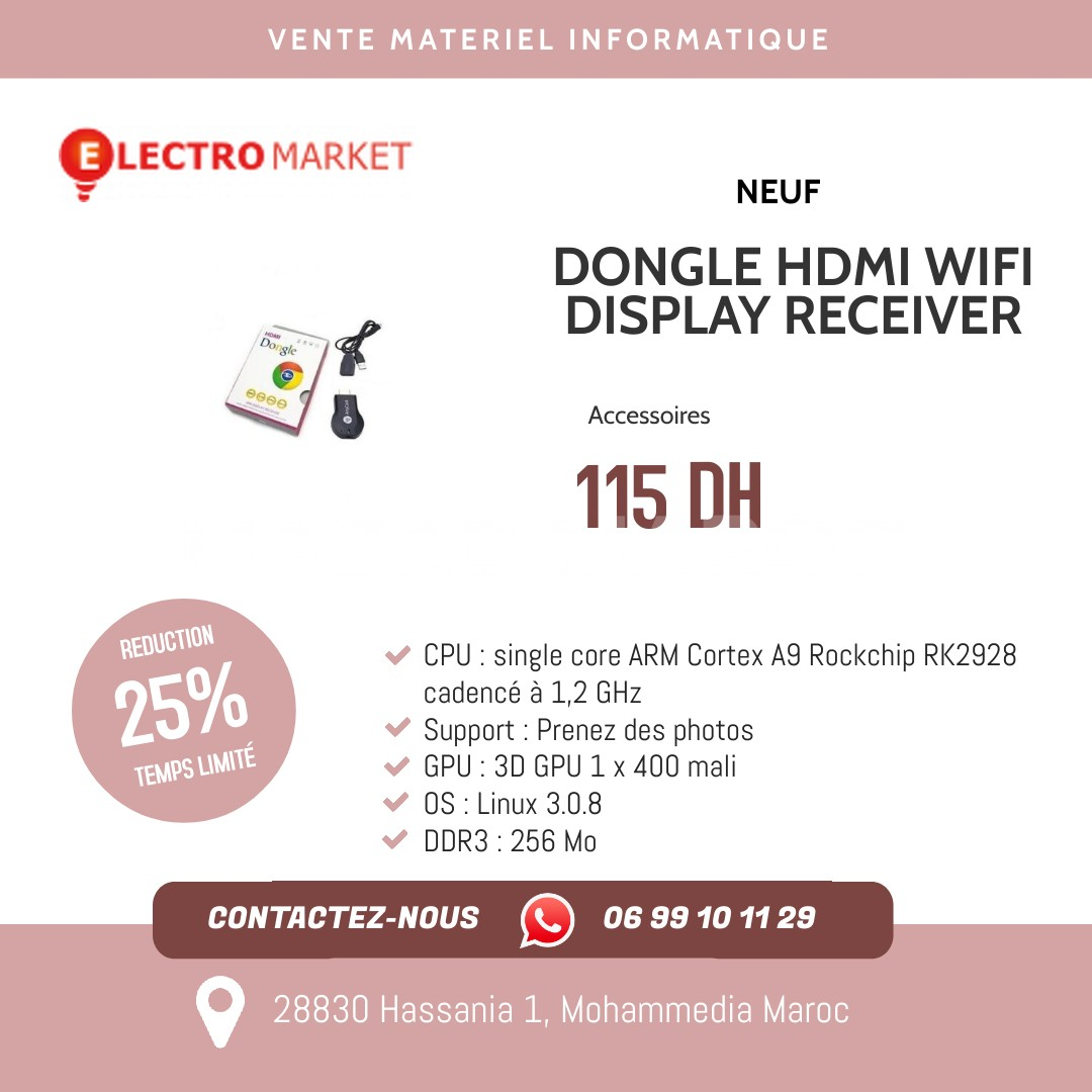 DONGLE HDMI WIFI DISPLAY RECEIVER