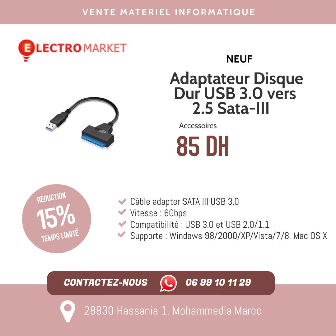 Adaptateur Disque Dur USB 3.0 vers 2.5 Sata-III