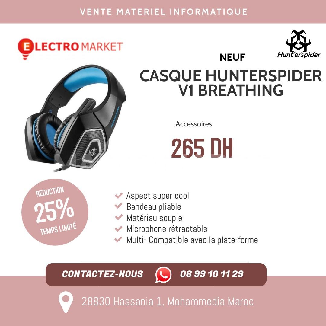 CASQUE HUNTERSPIDER V1 BREATHING EFFET DE LUMIÈRE LED AVEC 7 COULEURS