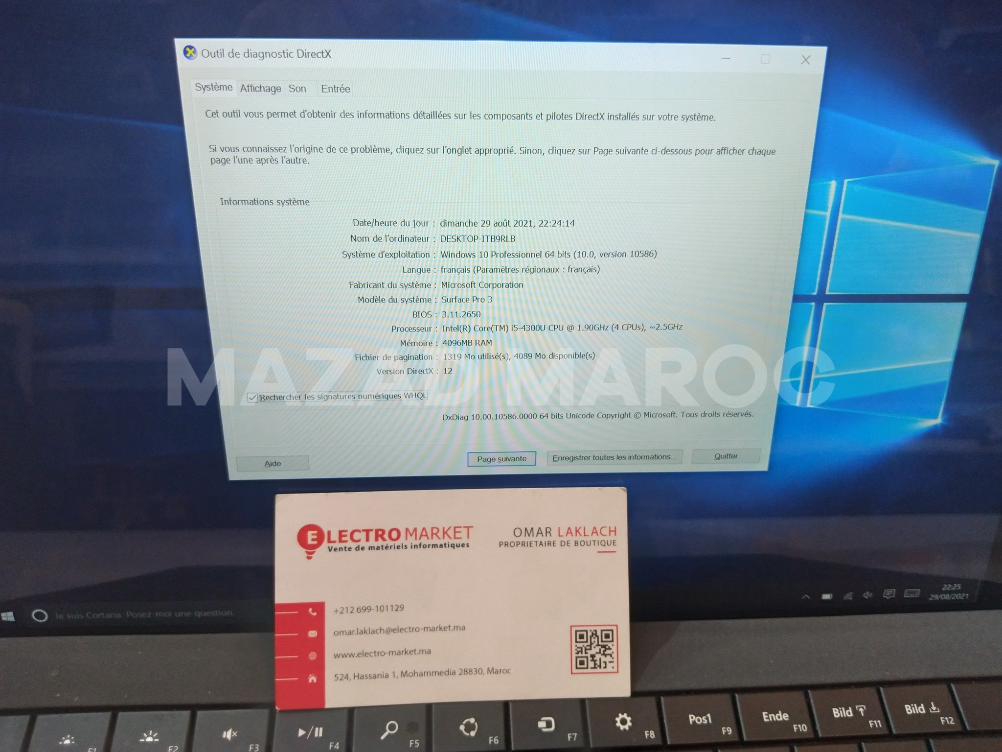 Microsoft Surface Pro 3 Intel Core i5 4ème Génération