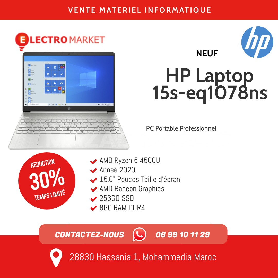 vente HP Laptop 15s-eq1078ns