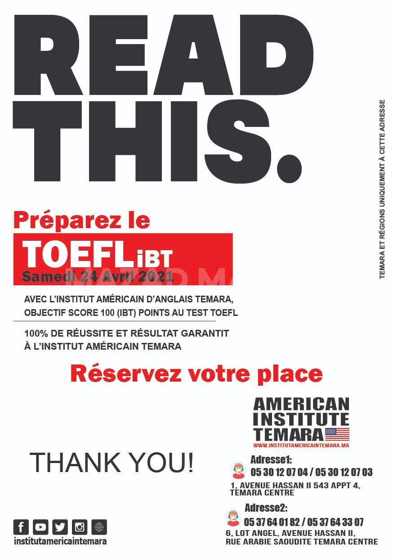- Préparez-vous pour réussir à l'aide de notre gamme complète d'outils à la préparation du test TOEFL iBT