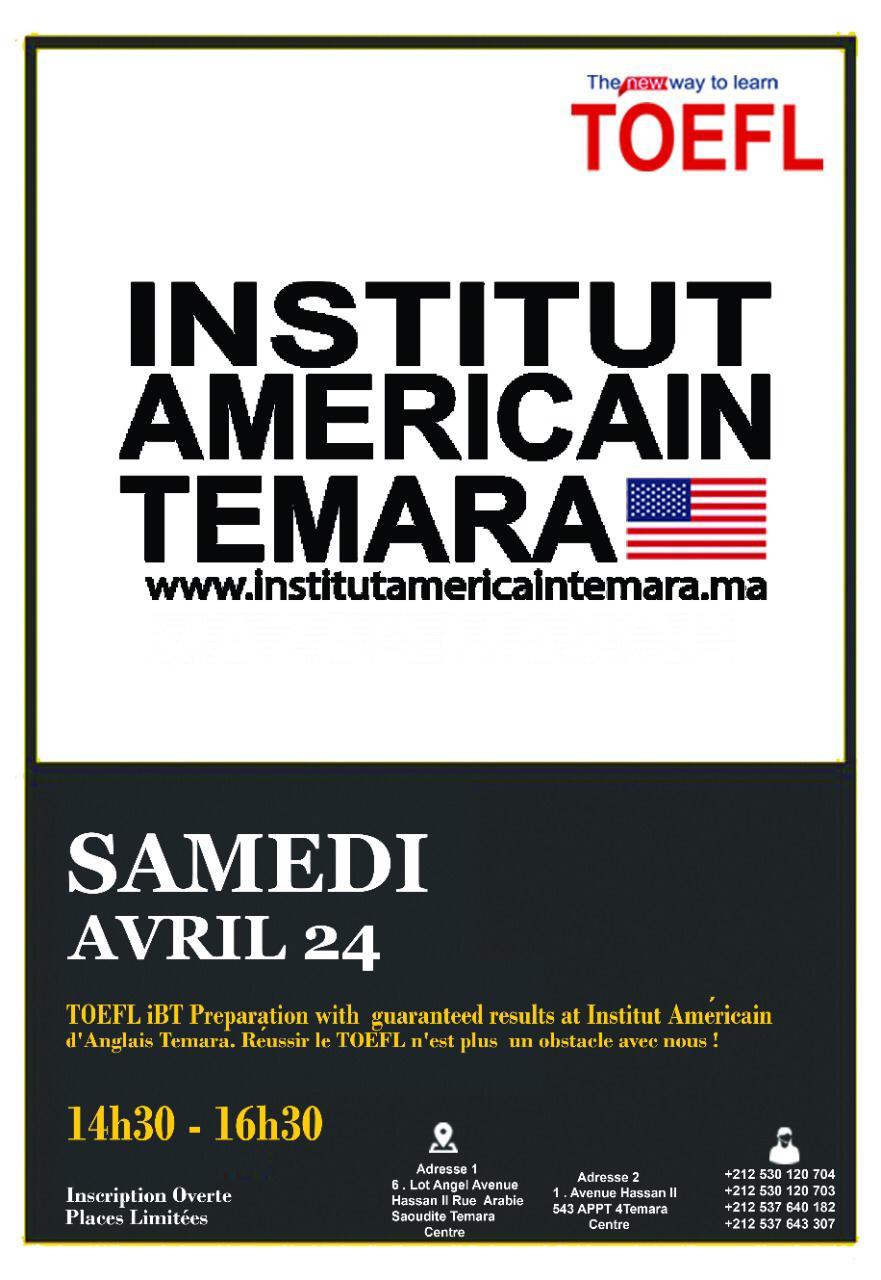 - Se préparer au test TOEFL iBT (pour les candidats) - American Institute Temara