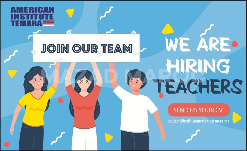 Offres d'emploi : Professeur d Anglais à Temara