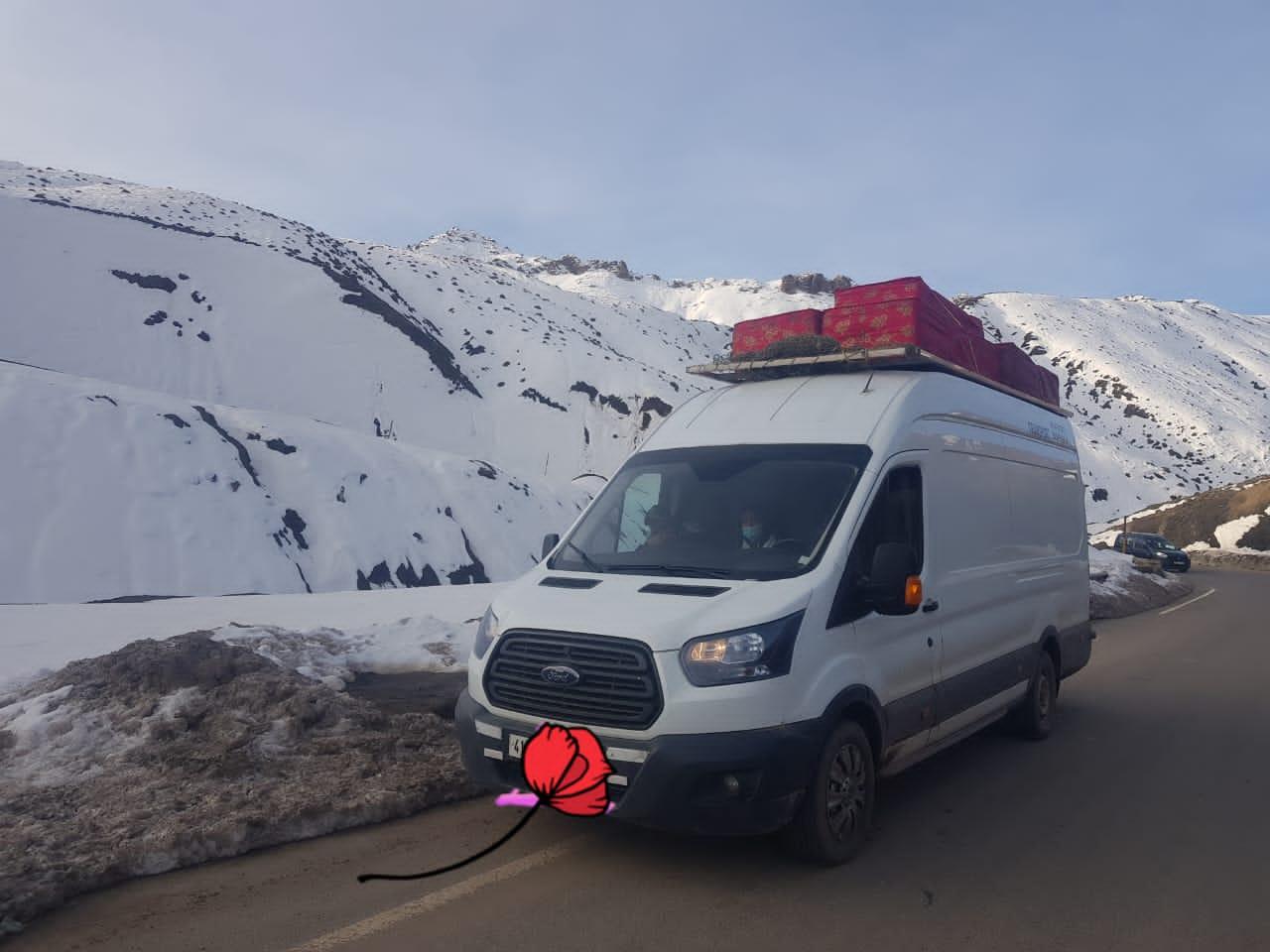 نقل البضائع نحو جميع الجهات   transport marchandies