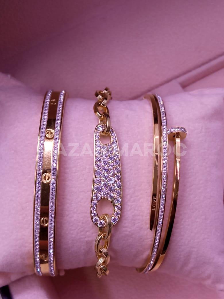 Pack bracelet en acier inoxydable
