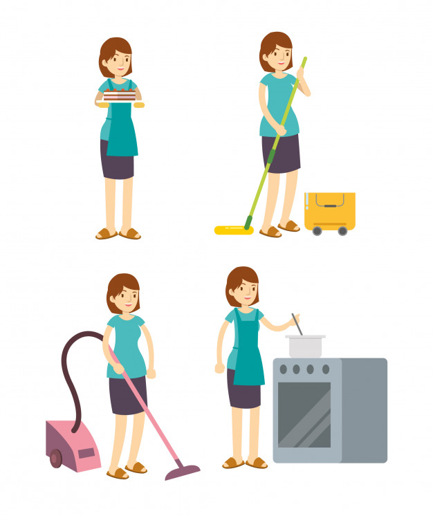 Femmes pour le ménage et la cuisine
