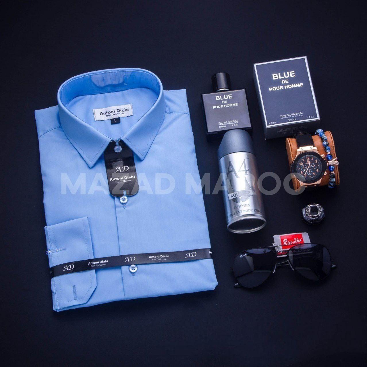 👆👆😍😍 باااك قميجة+ #ساعة جلد #براصلي #نظارة #دودورون #ريحة #خاتم Taille:S/M/L/XL /XXL /XXXL              Prix 299 DH 😍😍 Livraison gratuite a Casablanca